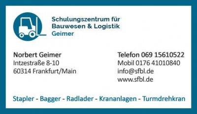 Schulungszentrum Geimer - Flurförderzeuge - Stapler Führerschein