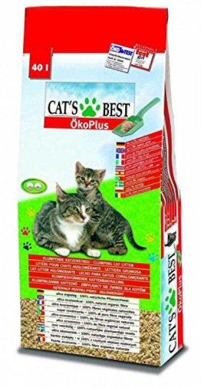 Cat's Best 28441 Öko Plus Katzenstreu, 40 Liter - katzenparadies24.de