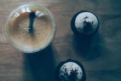 » Muffin mit Cappuccino-Geschmack und Pick-up Riegeln