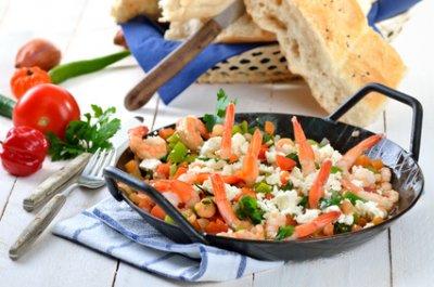 » Garnelenpfanne mit Gemüse