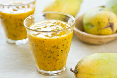 » Passionsfrucht Ingwer Pflaumen Smoothie
