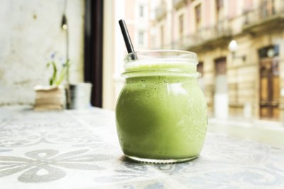 » Ananas Lauch Smoothie mit Kokoswasser