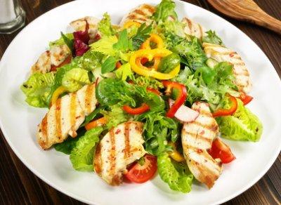 » Gemischter Salat mit gegrillter Hähnchenbrust