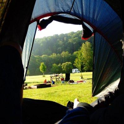 Spass beim Campen